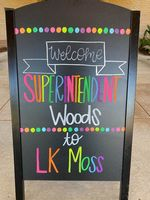 Welcome State School Superintendent Woods to L.K. Moss