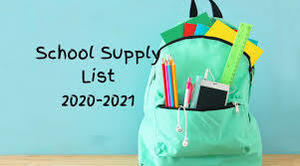 Grade Level Supply Lists 2020-2021